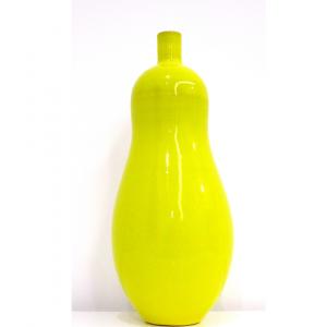 vaso bottiglia giallo